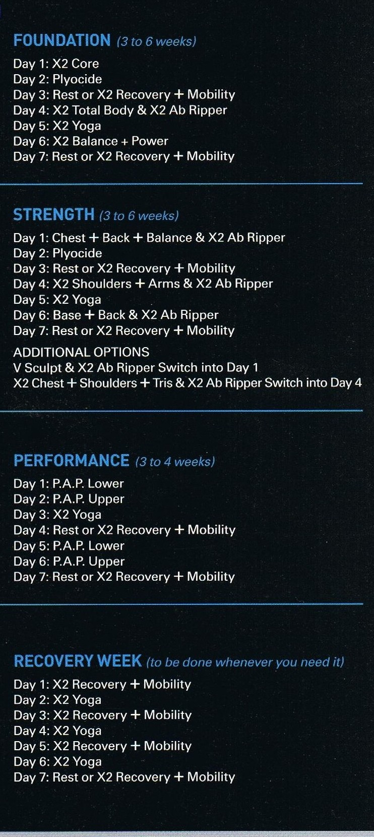 P90X2-Workout-Schedule , calories burned