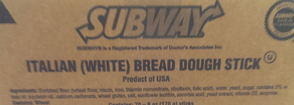 new Subway bread